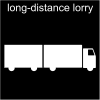 long-distance lorry Pictogram