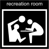 recreation room Pictogram