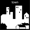 town Pictogram