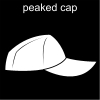 peaked cap Pictogram