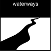 waterways Pictogram
