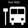 bus stop Pictogram