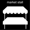 market stall Pictogram