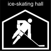 ice-skating hall Pictogram