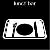 lunch bar Pictogram