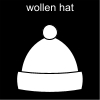wollen hat Pictogram