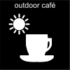 outdoor café Pictogram