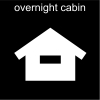 overnight cabin Pictogram