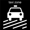 taxi zone Pictogram