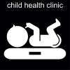 child health clinic Pictogram