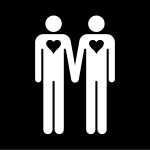 homosexuell, Pictogram.