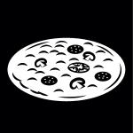 pizza, Pictogram.