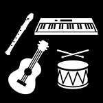 musikinstrument, Pictogram.
